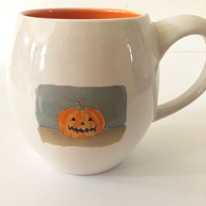 Rae Dunn Orange Pumpkin Halloween Coffee Cup Mug